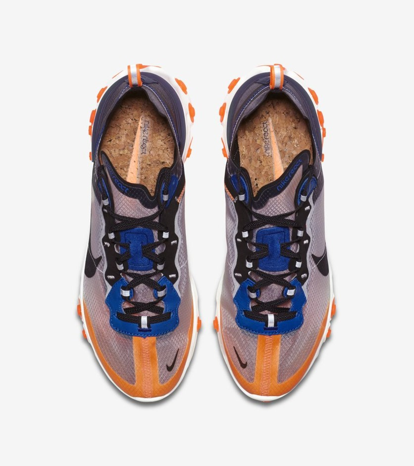 Nike React Element 87 'Total Orange & Black & Thunder Blue' Release Date. Nike⁠+ SNKRS