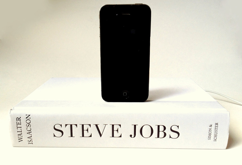 Steve Jobs Biography Book Dock Charger for by RichNeeleyDesigns
