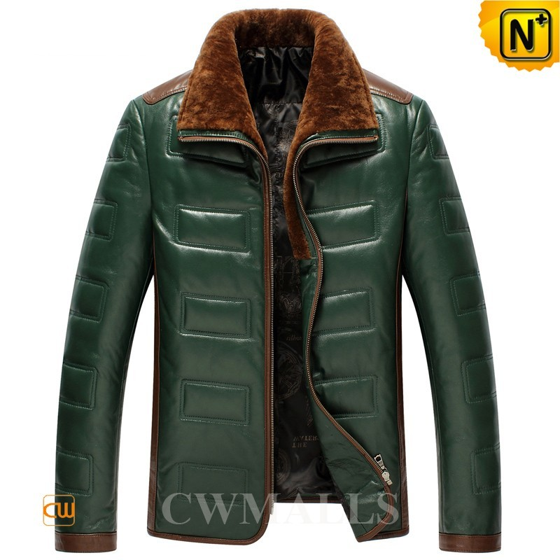 Shearling Collar Down Leather Jackets CW846023