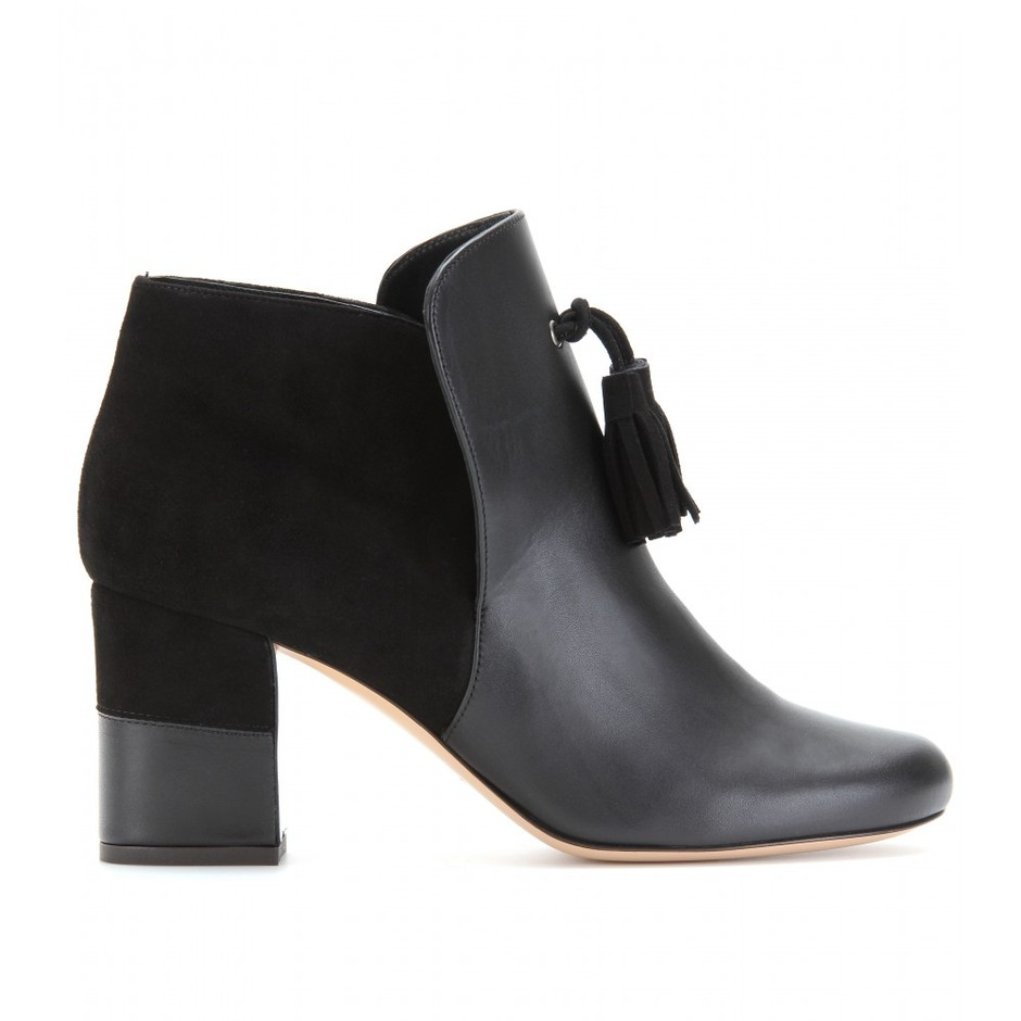 mytheresa.com - Vionnet - ANKLE BOOTS WITH TASSLED TRIM - Luxury Fashion for Women / Designer clothing, shoes, bags