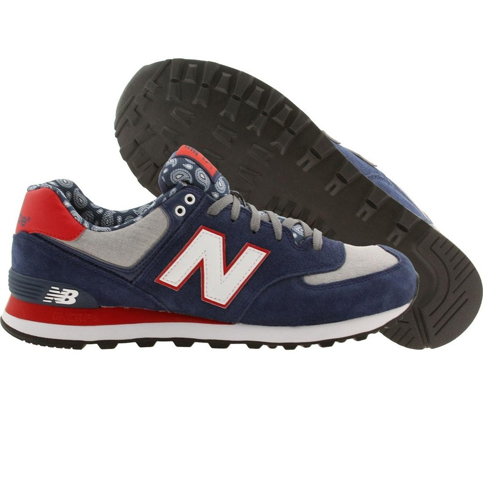 New Balance Men ML574LRR Paisley blue red