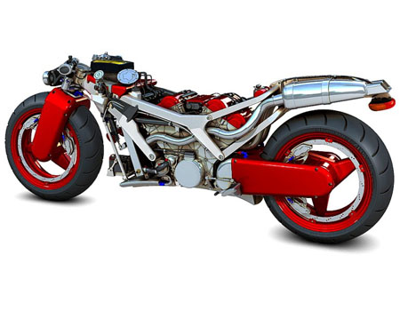 A Motorcycle Concept Inspired By Ferrari | Modern Industrial Design and Future Technology - Tuvie