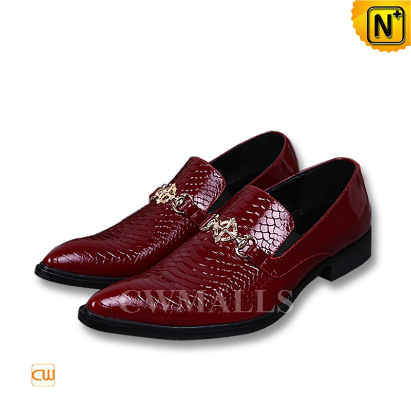 Red Leather Dress Shoes For Men CW751011