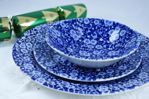Dark Calico Dinner Set 4 Persons (12piece). Buy Blue and White China from the Secure Burleigh Online Shop