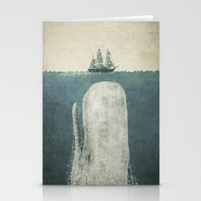 White Whale Stationery Cards by Terry Fan | Society6
