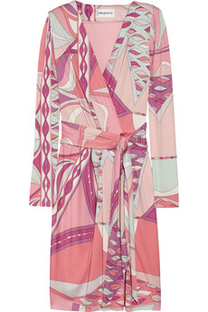 Emilio Pucci | Wrap-effect printed silk-jersey dress | NET-A-PORTER.COM