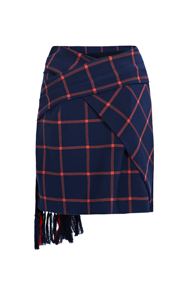 Plaid Suiting Wrap Skirt by Thakoon Addition for Preorder on Moda Operandi