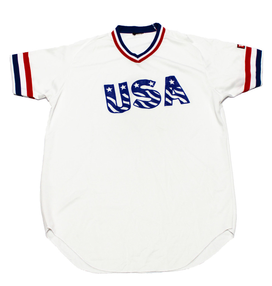 Vintage Wilson Red/White/Blue USA Jersey Mens Size Medium | Vintage Mens Goods