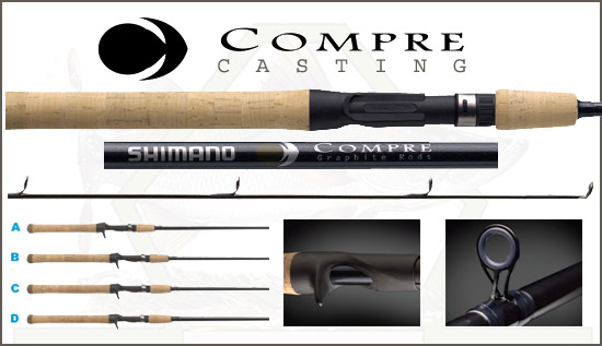 Shimano Compre Casting Rods/Compre Casting Rods/Shimano Casting Rods/Casting Rods For Sale: Island Discount Tackle - Saltwater Fishing, Freshwater Fishing, Rods and Reels