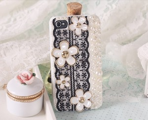 lulula-fashion shopping mall — [gryxh310004881]lovely pearl lace flower case for iphone 4/4s/5