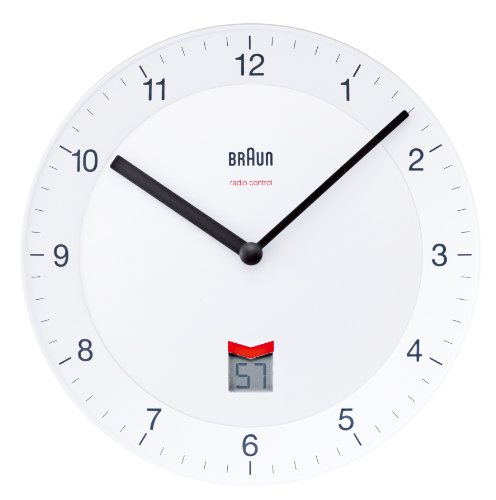 Amazon.co.jp: BRAUN Radio Controlled Wall Clock BNC006WHWH: ホーム&キッチン
