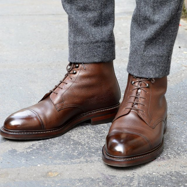 Fancy - Coniston Leather Boots by Crockett & Jones