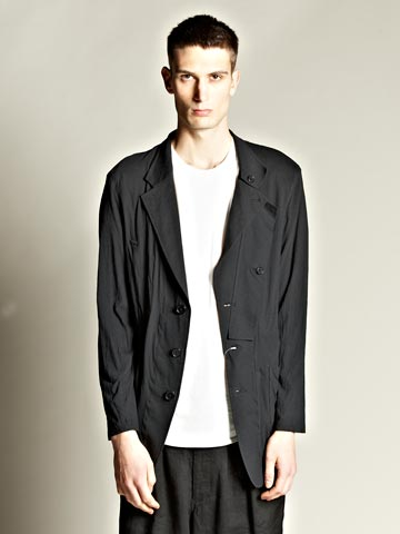 Yohji Yamamoto Pour Homme Men's Single Plush Cloth Jacket | LN-CC