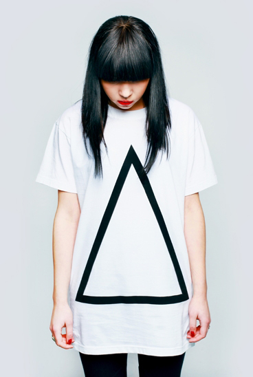 "【LONG CLOTHING】グラフィックプリントTシャツ""Prism""/WHITE[12SS-LN-011] 