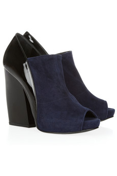 Pierre Hardy | Glossed-leather and suede ankle boots | NET-A-PORTER.COM