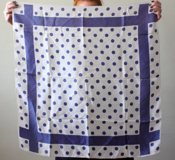 Etsy の 1960's nautical dot scarf by 1919vintage