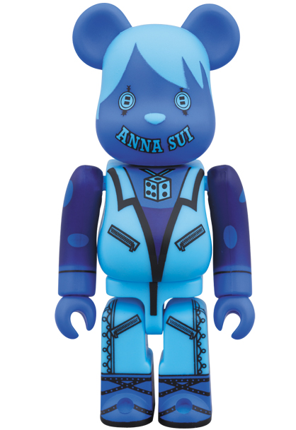 MEDICOM TOY - BE@RBRICK ANNA SUI 100% BLACK / BLUE