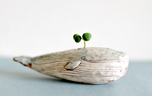 handmade charlotte :: Whimsical Ceramic Animal Planters :: design for kids and the home