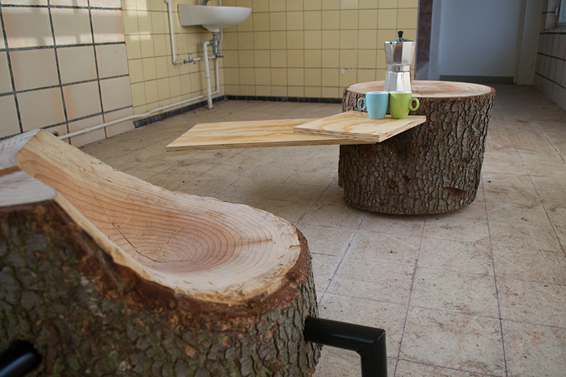 hand-crafted reclaimed log furniture