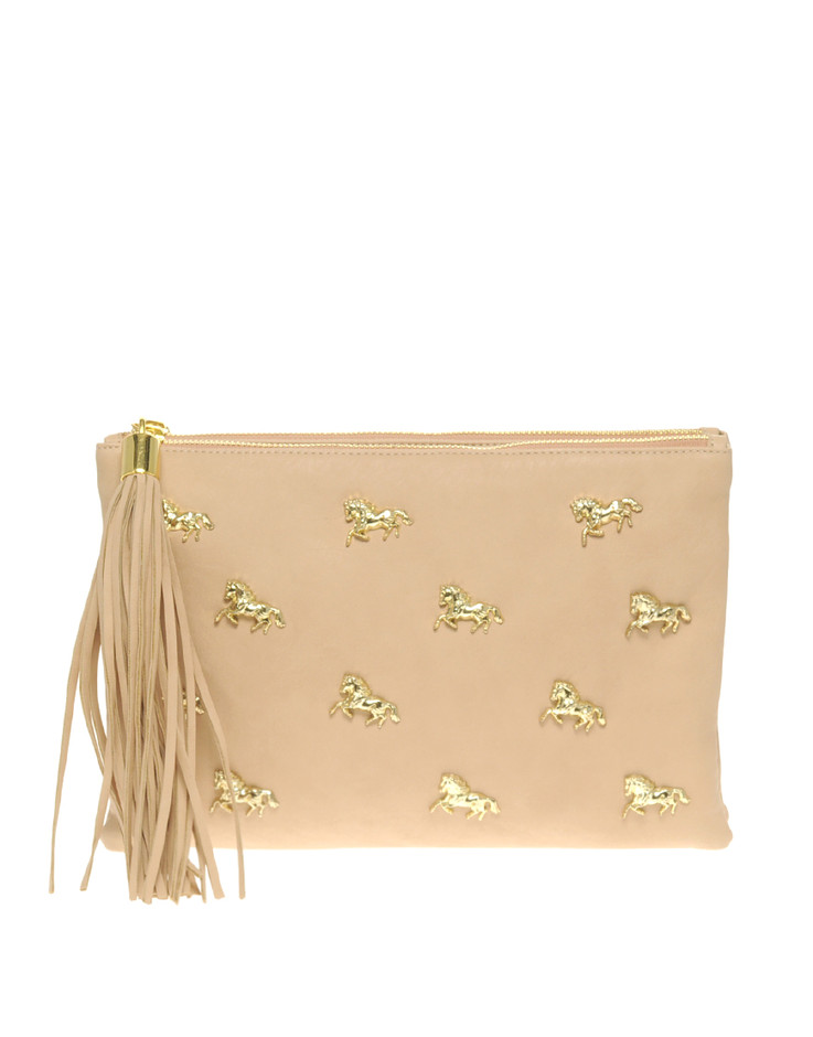 ASOS | ASOS Multi Zip Horse Clutch at ASOS