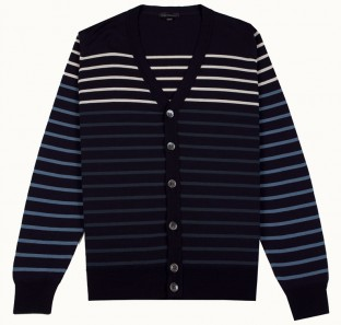 Boater In Col 1, Cardigan Made From New Zealand Merino Wool | John Smedley Official Store