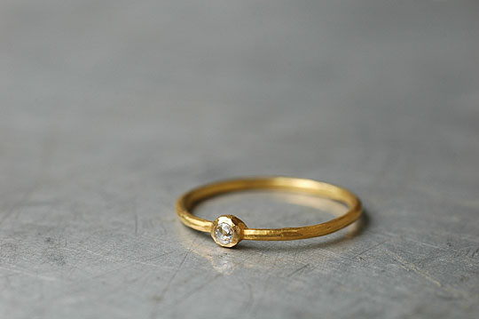 2mm Rosecut Diamond Ring - SOURCE CLASSICS - SOURCE objects