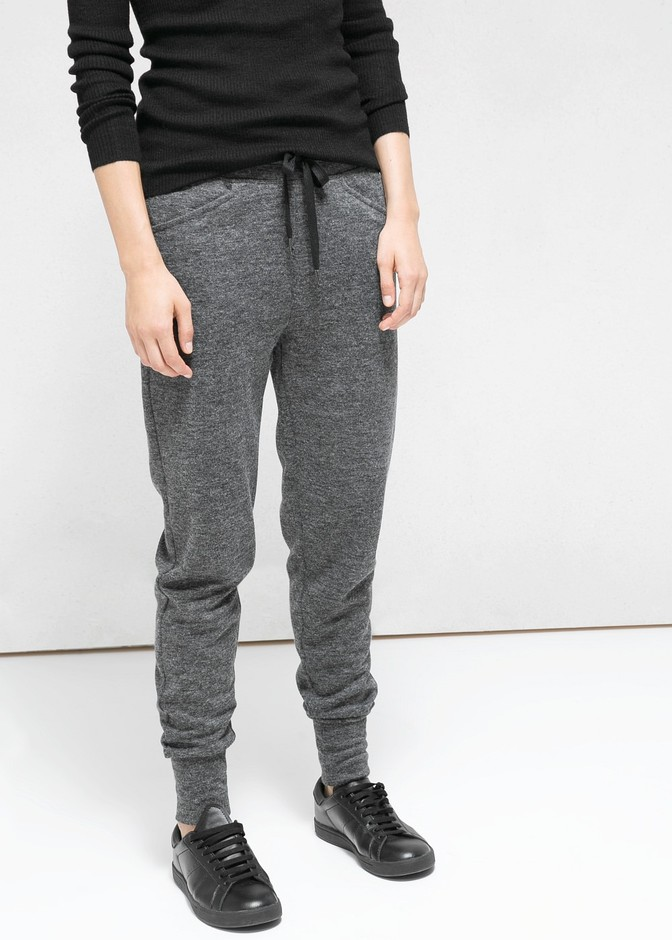 Flecked jogging trousers - Trousers for Women | MANGO