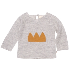 Crown Sweater Lt Grey/Honey by Oeuf