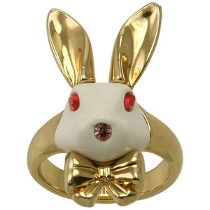 Disney Couture Alice in Wonderland Goldplated Rabbit ring- L... - Polyvore