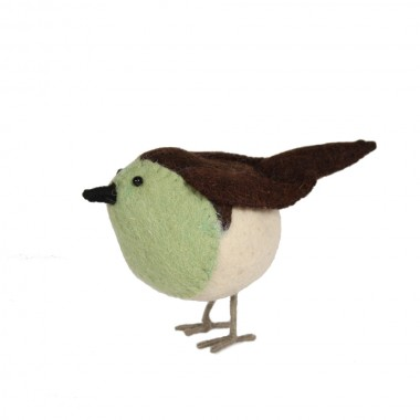 Scandi-Chic Felt Robin, Small Green :: Bohemia