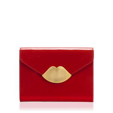 Red Patent Leather Small Envelope Clutch | Clutches - Lulu Guinness
