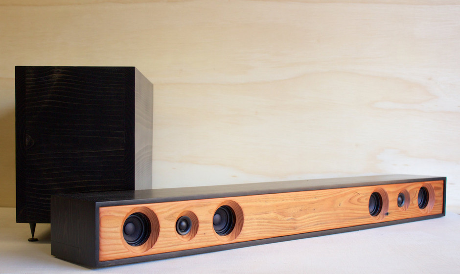 Sound Bar 2.1 Powered Home Theater System by SalvageAudio on Etsy