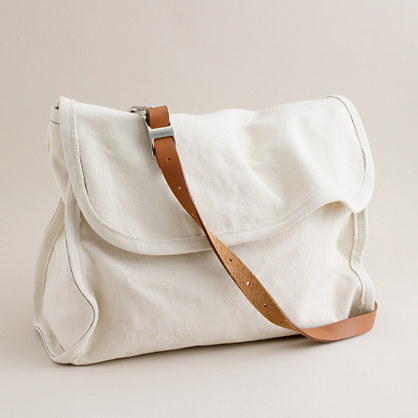 Canvas postal messenger bag - bags - Men's accessories - J.Crew