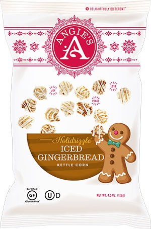 Angie's Popcorn, Angie's Kettle Corn, BOOMCHICKAPOP Holidrizzle Iced Gingerbread - Angie's Popcorn, Angie's Kettle Corn, BOOMCHICKAPOP