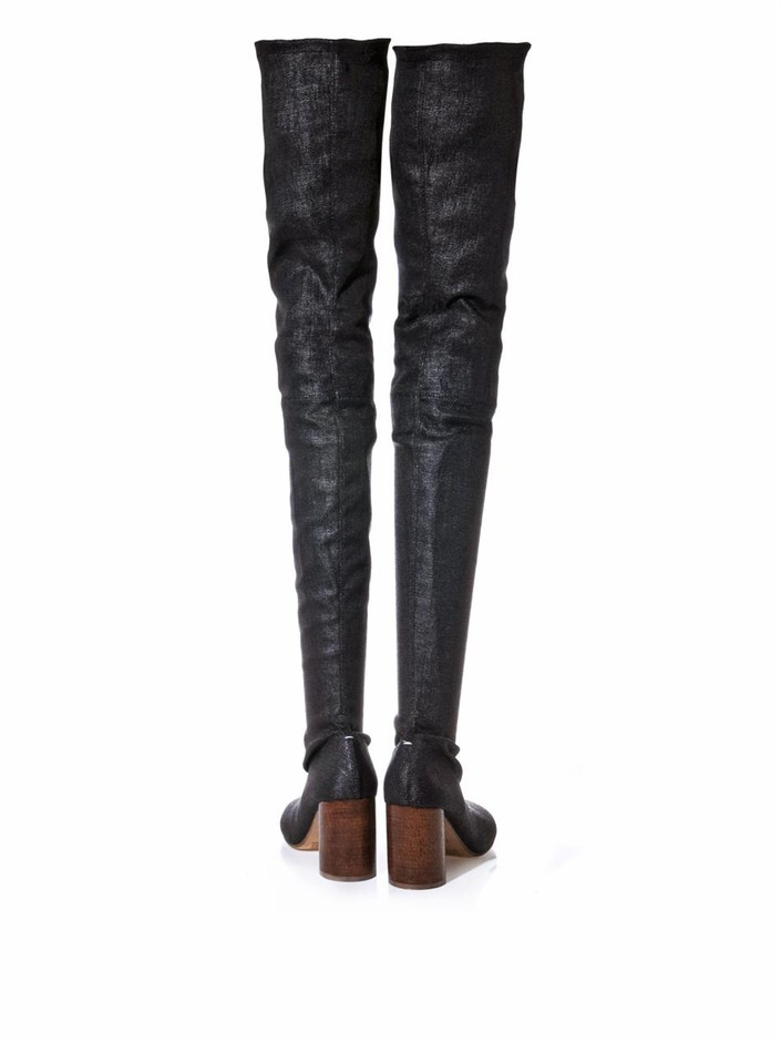 Thigh-high stretch-twill boots | Maison Martin Margiela | MATC...