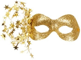 Gold Glitter Decoration Masks - Polyvore