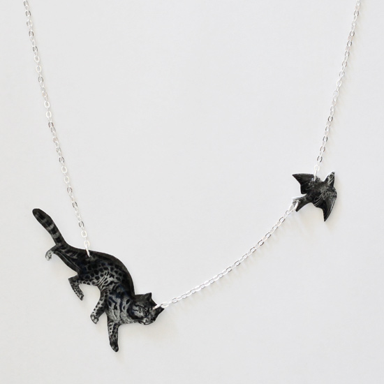 【LASO ラソ】●○Tilly Bloom○● Cat and Bird Necklace - The One That Got Away Necklace ティリー・ブルーム