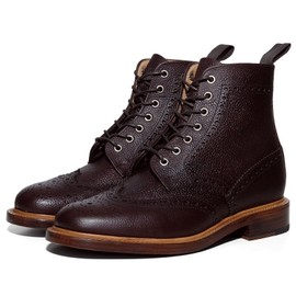 Mark McNairy New Amsterdam - Country Brogue Boot Brown Leather