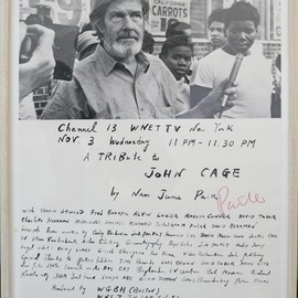 Nam June Paik - WNET TV, CHANNEL 13, John Cage に捧ぐ, 1973