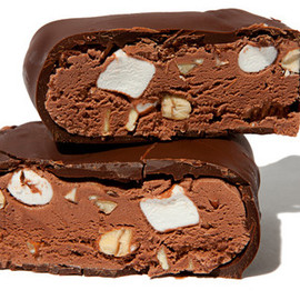 Chocolate-Dipped Rocky Road Ice Cream Bars