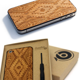 Native Print iPhone Wood Back