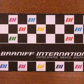 "BRANIFF INTERNATIONAL - ""Ticket Jacket (Black)"" Designed by Alexander-Girard"