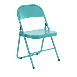 CONRAN SHOP - AMERICA FOLDING METAL CHAIR Turquoise