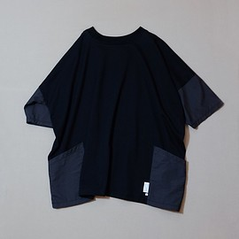 PHABLIC × KAZUI - 96% Wide-Tshirt_Organic cotton x RE:Nylon [ Black ]