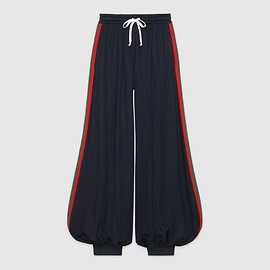 GUCCI - FW2018 Technical jersey pant with Web