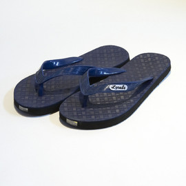Locals - Geometric Pattern Beach Sandals (Navy×Blue)