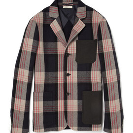 MARNI - Marni Plaid Ribbed Cotton-Blend and Twill Blazer