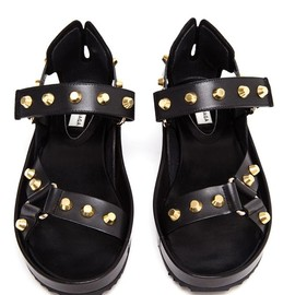 BALENCIAGA - Studded Leather Platform Sandals