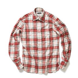 TOM FORD - Checkered Pattern Flannel Shirt
