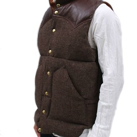 rocky mountain featherbed - rocky mountain featherbed down vest brown tweed ROCKY MOUNTAIN FEATHERBED DOWN VEST TWEED | NORSE STORE SALE